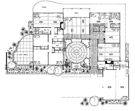 spanish floor plans spanish courtyard house plans four bedroom spanish