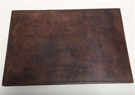 Leather Desk Blotter by Deco Crocodile And Leather Desk Blotter At 1stdibs