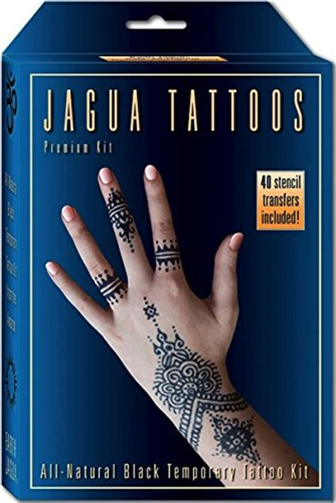 organic jagua black temporary tattoo and body painting