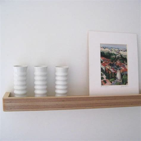 Floating Picture Shelf by Picture Ledge Floating Shelf Bright Blue Living