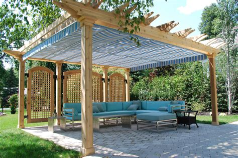 pergola with shade retractable pergola canopy in oakville shadefx canopies
