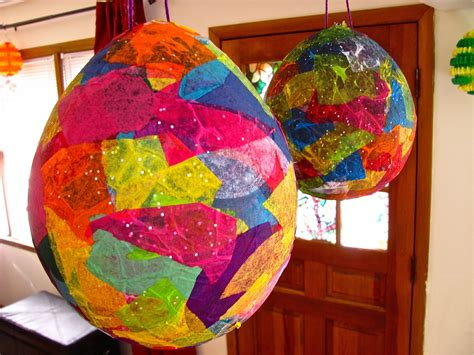 Paper Mache Crafts - the chocolate muffin tree tissue paper mache easter egg