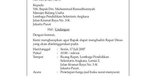 contoh surat undangan dari salah satu badan usaha susan azzahra