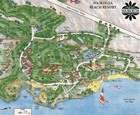 waikoloa resort map waikoloa tourist map waikoloa mappery