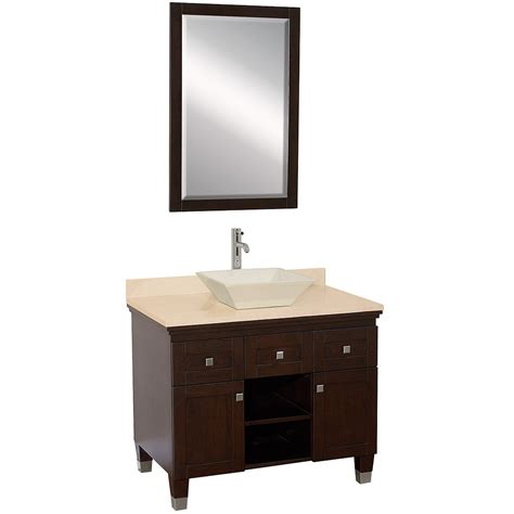 Espresso Bathroom Vanity 36 Quot Premiere Single Vessel Sink Vanity Espresso Bathgems