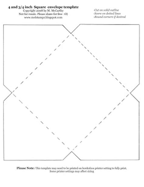 mini envelope for 3 inch card template mel stz 100 envelope templates and tutorials