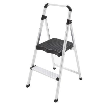 home depot step ladder easy reach by gorilla ladders 2 ft aluminum 2 step ultra