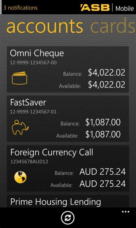 asb bank phone number asb mobile banking free windows phone app market