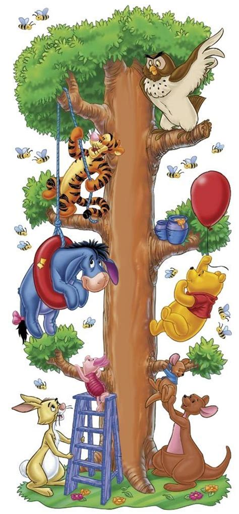 ultimate disney character tree tigger eeyore piglet rabbit owl pooh roo and kanga winnie the pooh piglets
