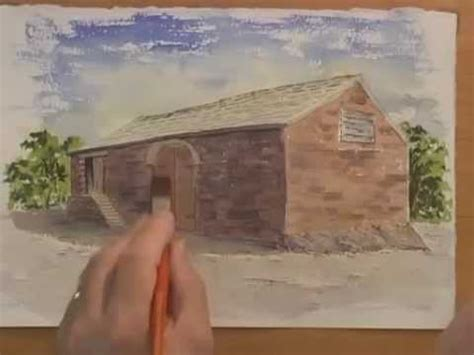 youtube tutorial paint watercolor tutorial painting a simple barn part 1