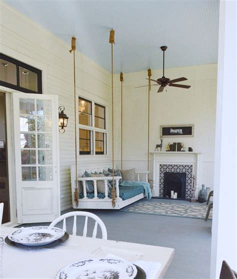 southern home paint color palette porch swings and daybed