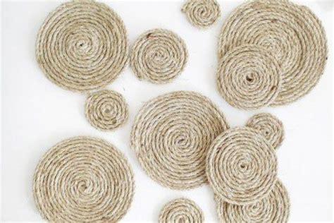 felpudo yute redondo como hacer una alfombra con hilo sisal todo manualidades