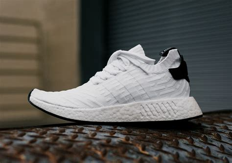 Adidas Nmd R2 Black White Adidas Nmd R2 Primeknit White Black By3015 Sneakernews
