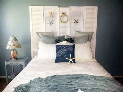 beachy headboard ideas pretty shutter headboard beachy room kathie s house