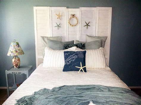pretty shutter headboard beachy room kathie s house