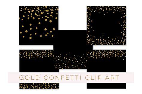 sparkling confetti overlay clipart gold glitter confetti clipart confetti clip art co design bundles