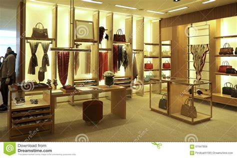 clothing and accessories boutique interior stock image