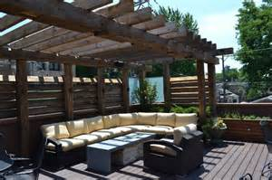 Modern Outdoor Pergolas by Contemporary Outdoor Space With Reclaimed Timber Pergola