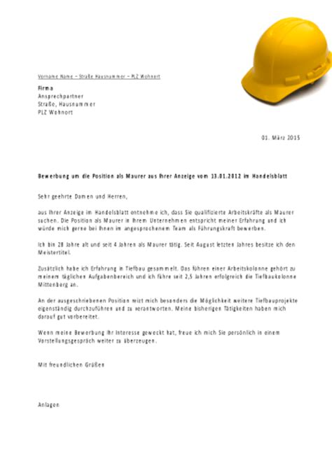 Anschreiben Bewerbung Zimmerer Presentationload Bewerbungsvorlagen F 252 R Bauberufe