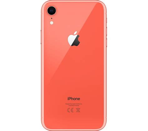 apple iphone xr  gb coral fast delivery currysie