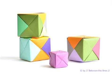 How To Make A Cube On Paper - top 10 tutorials on how to origami top inspired