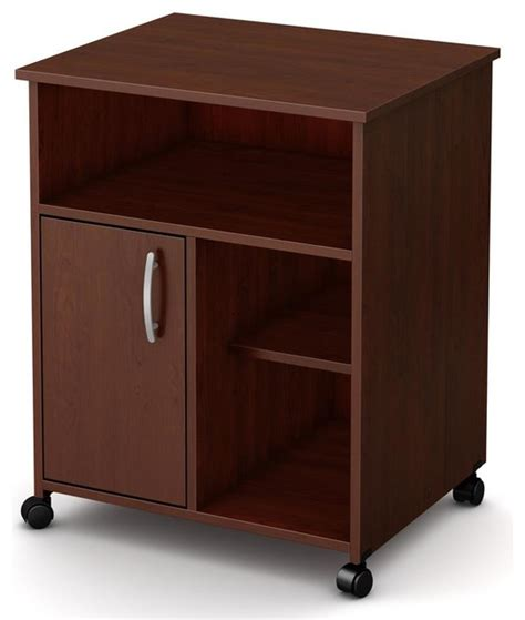 cherry kitchen island cart microwave cart in royal cherry finish contemporary