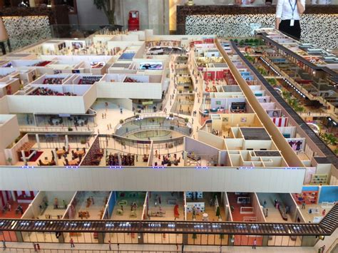 layout of marketplace mall shopping centre miniature scale model buy scale model