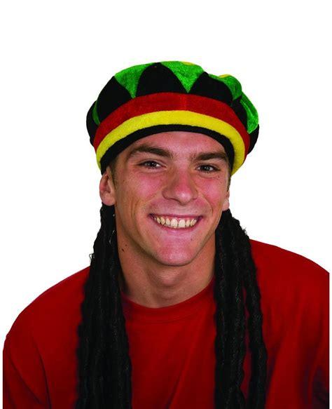 jamaican hat with dreadlocks dreadlocks wig with rasta cap