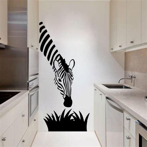 zebra wall stickers zebra wall decals modern decoration for your kitchen