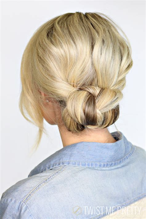 cute hairstyles in a bun 2 minute braided bun twist me pretty