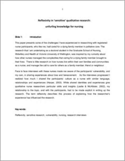abstract thesis qualitative research reflexivity in sensitive qualitative research unfurling