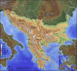 mountains map balkan mountains map