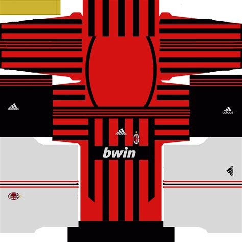 Retro Jersey Ac Milan Away 2007 pes world archives pes patch