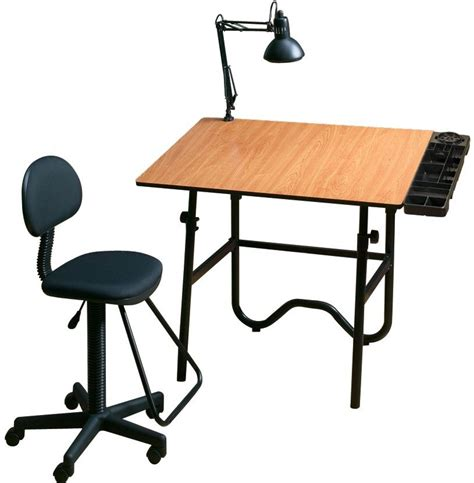 Black Alvin Drafting Table Chair Onyx Creative Center Drafting Table And Chair