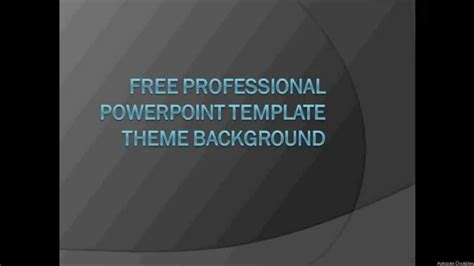 Free Professional Powerpoint Template Themes Background To Download Youtube Powerpoint Template Free Professional