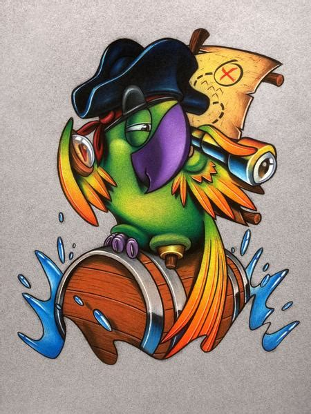 pirate parrot tattoo designs pirate parrot by timothy stafford tattoonow