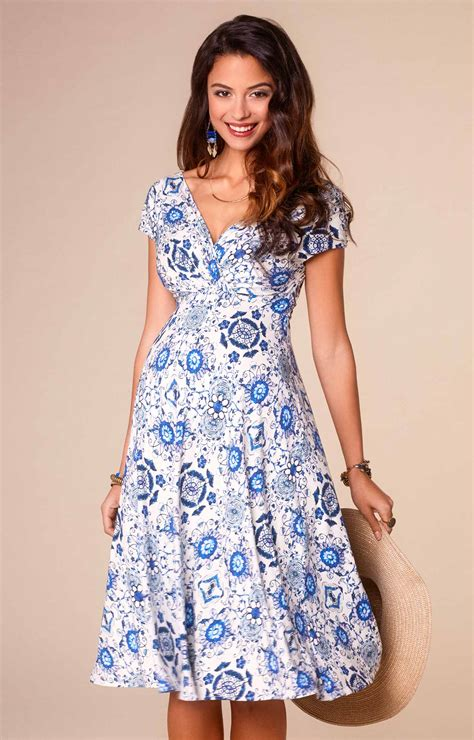 Porceline Dress alessandra maternity dress porcelain blue