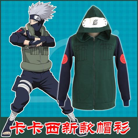 Hoodie Zipper Anak Konoha Salsabila Cloth hatake kakashi costumes s hoodie high quality jacket coat free shipping