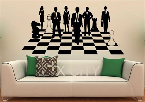 home interior pictures wall decor chess game sticker strategy board show decals vinyl office