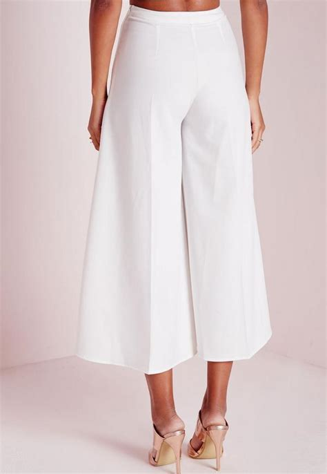 Wide Leg Cullote 2 crepe wide leg culottes white missguided