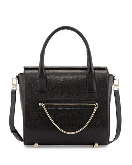 Chastity Handbag Black wang chastity embossed satchel bag black