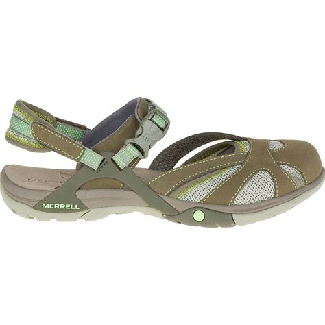 merrell hiking sandals merrell s azura wrap hiking sandals medium green