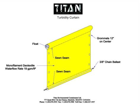 turbidity curtain turbidity curtain titan environmental containment ltd