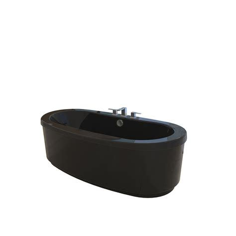 black freestanding bathtub shop jacuzzi bravo black acrylic oval freestanding bathtub