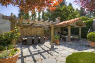 tuscan outdoor kitchen mediterranean patio vancouver by kettle river timberworks ltd