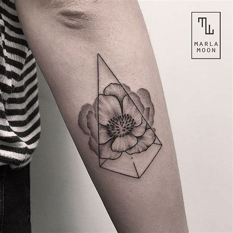 tattoo with geometric shapes design stack a blog about art design and architecture
