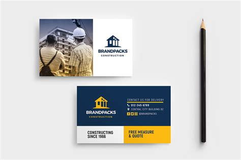 builders business cards psd templates construction company business card template in psd ai