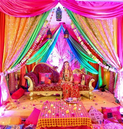 rainbow setting   mendhi  sangeet indian wedding