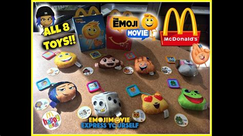 Happy Meal The Emoji Frog the emoji mcdonalds happy meal toys august 2017 all 8 toys