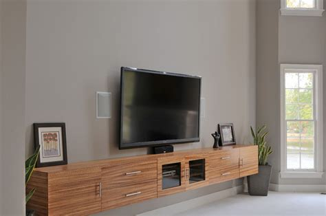Wall Mounted Table Ikea Zebrawood Tv Cabinet Contemporary Home Theater